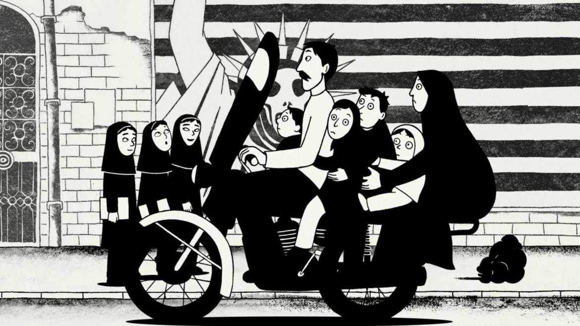 """Persepolis"" tells a coming-of-age story of a young girl during the Iranian revolution."