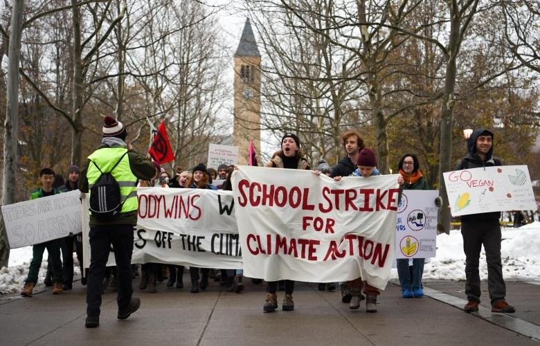 Climate Justice Cornell has been staging protests since early December 2019, but now plans to take their movement online with the announcement of online classes.