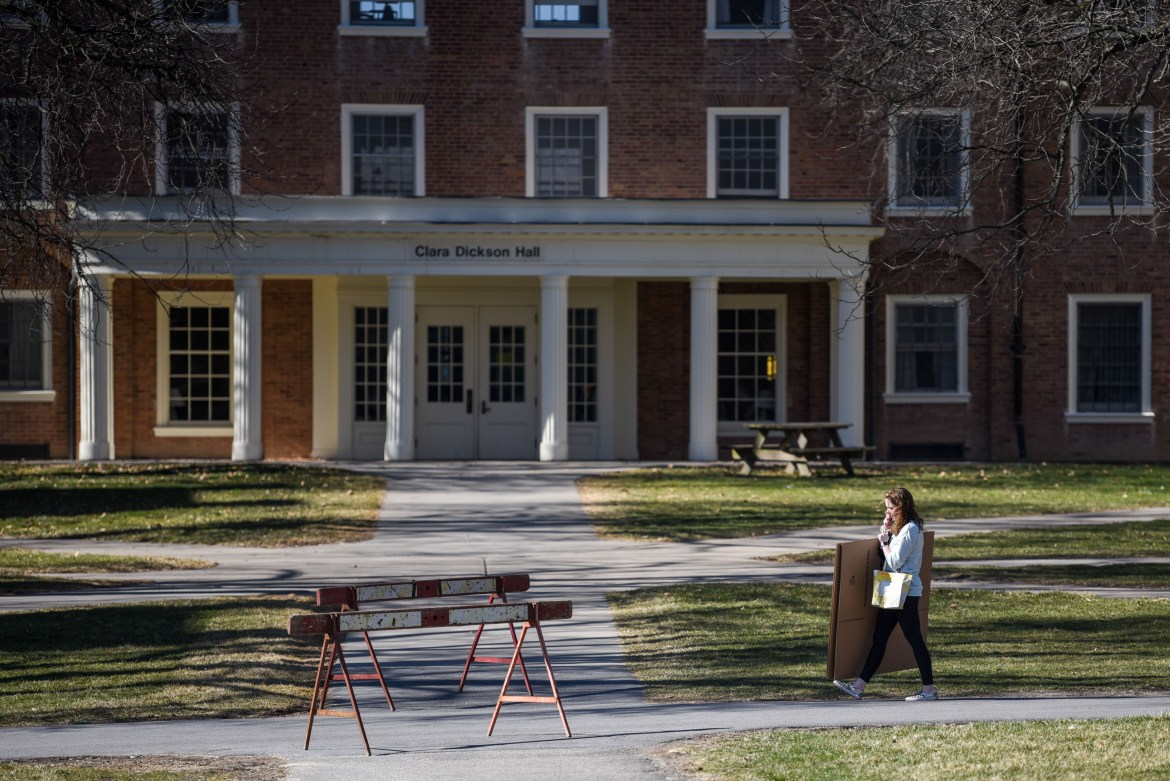 After the abrupt cancellation of classes, most first-year students were forced to move out of their North Campus dorms.