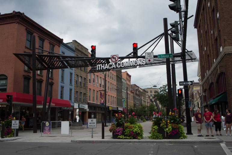 The Ithaca Commons, a short walk downhill from campus, feature dozens of shops and local restaurants.