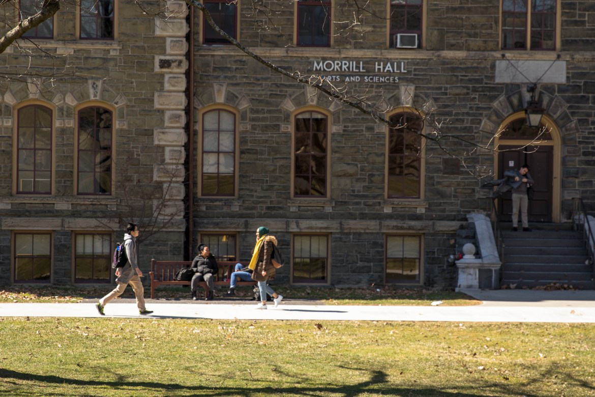 The Morrill Act, which shares a namesake with Morrill Hall, provided Cornell with significant early funding through land grants at the cost of the original inhabitants of that land.