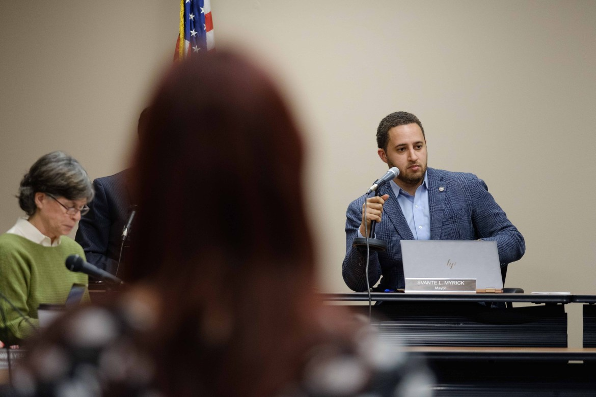 """Ithaca Mayor Svante Myrick '09 called the lack of funding to localities """"unsettling."""""""