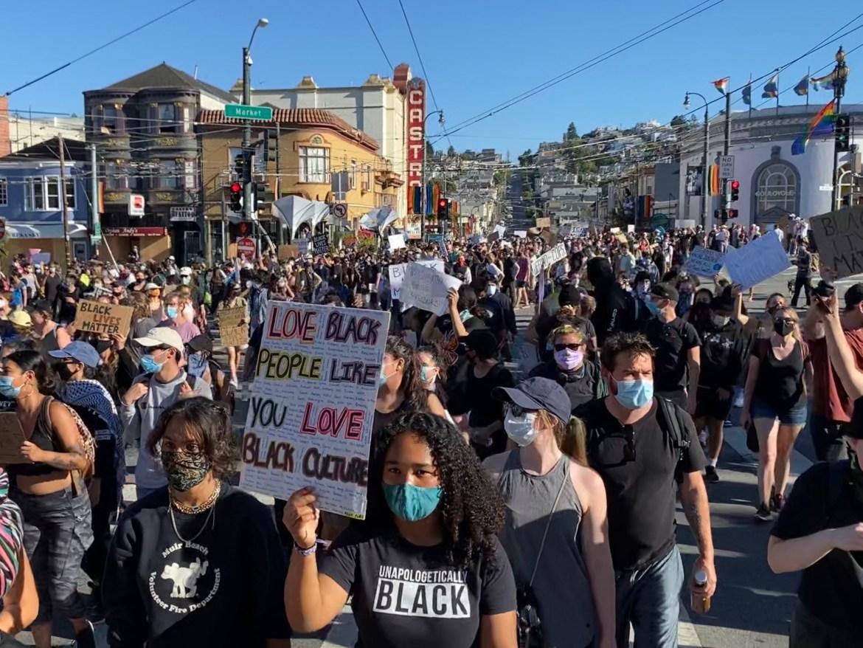 Protest around the Bay Area. (Amelia Clute / Sun Contributor)