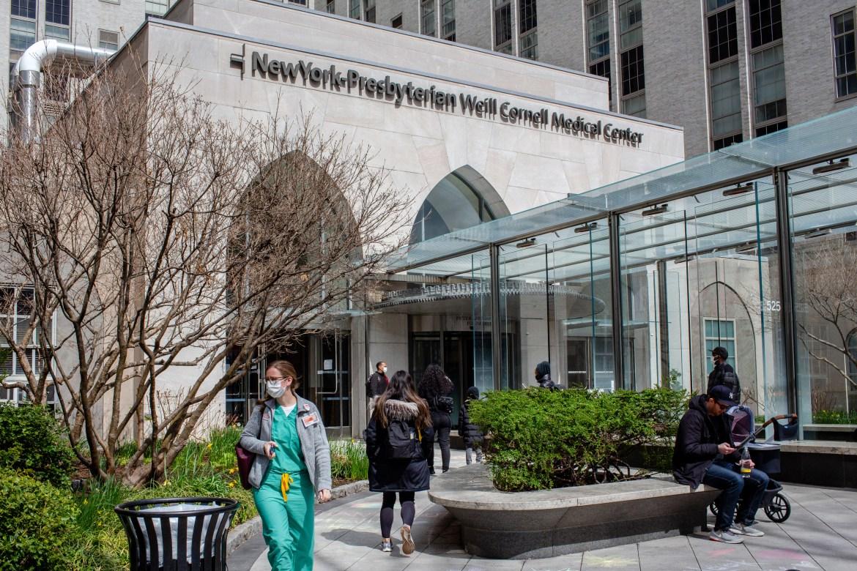 NewYork-Presbyterian Hospital/Weill Cornell Medical Center in New York on March 31, 2020.