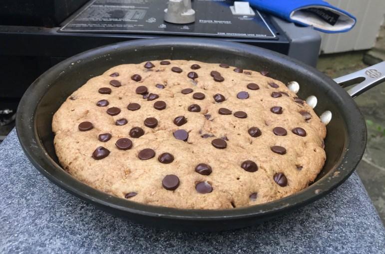 Warmly baked chocolate chip pie (Melanie Metz / Staff Writer)
