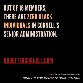 Do Better Cornell launched a social media campaign, focused on sharing information and educating its followers.