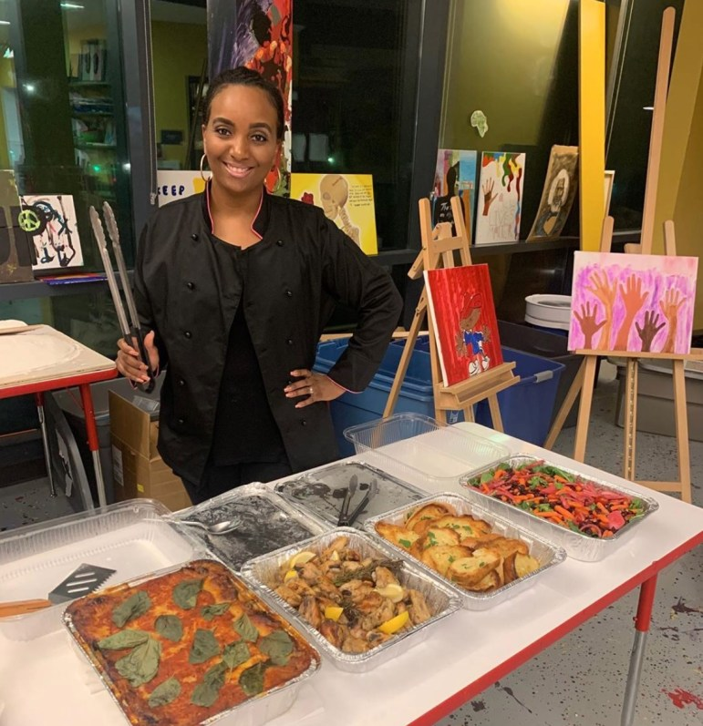 Providing food catering at local events. (Amelia Clute, Sun Staff Writer)