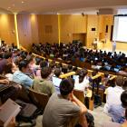 A lecture held in Rawlings Auditorium in Klarman Hall.