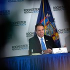 Andrew Cuomo during a briefing in May.