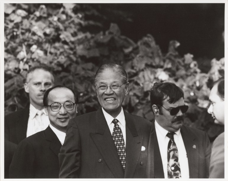 Lee visiting Cornell in 1995.