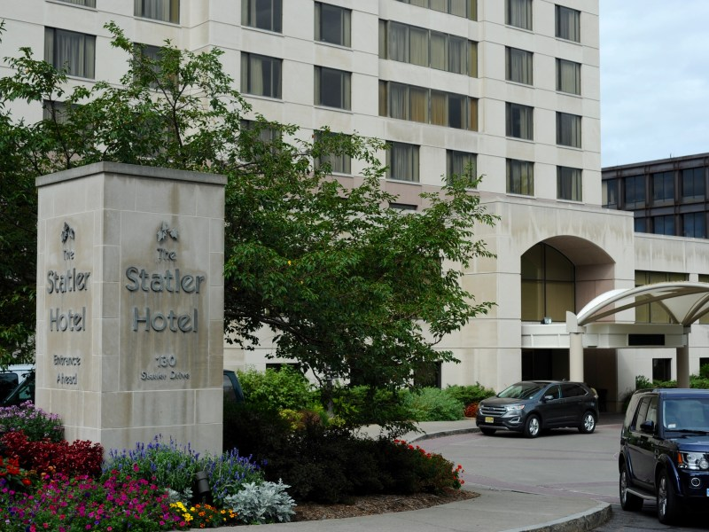 Students are currently medically isolating in hotel rooms on campus at the Statler Hotel.