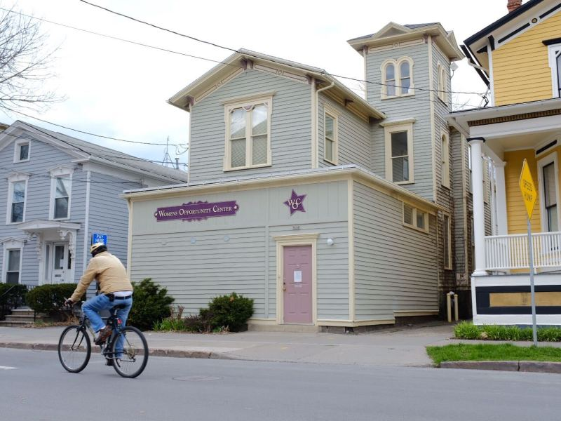 Funding cuts have forced the Women's Opportunity Center to run with only three staff members.