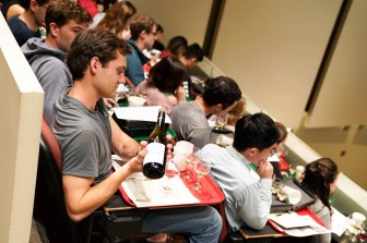 Usually, students sit in lecture halls enjoying wine and learning to taste different flavors — this year, they're doing the same, minus enjoying wine.