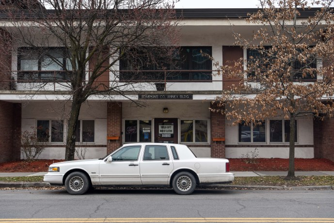 Tompkins County Board of Elections office on East Buffalo Street on March 18, 2020.