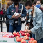 AppleFest still took place despite the ongoing COVID-19 pandemic, though numerous safety precautions helped ensure the safety of vendors and attendees. Oct. 2, 2020. (Katie de Waard/Sun Staff Photographer)