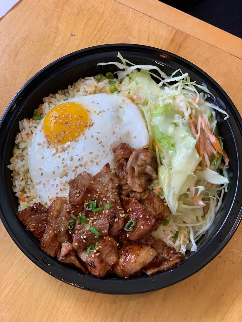 Fried rice and barbecued pork. (Sadie Groberg/Sun Contributor)