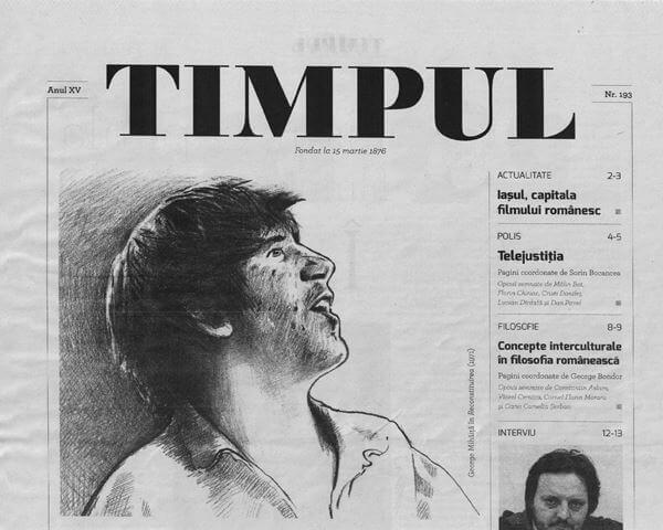 """""""Neființa ca hotar existențial"""" în Revista Timpul (Mai 2015)"""