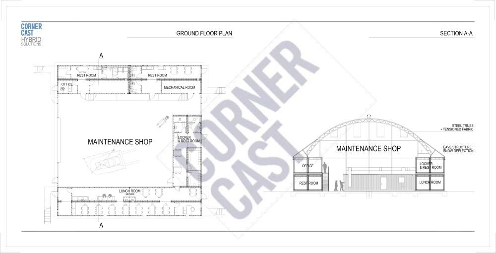 medium resolution of maintenance garage office complex corner cast corner cast diagram