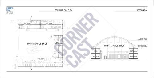 small resolution of maintenance garage office complex corner cast corner cast diagram
