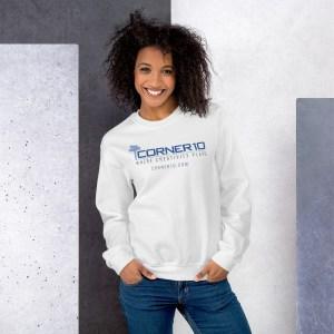 Corner 10 Creative White Sweatshirt