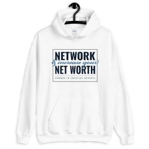'Network' Corner 10 Creative White Hoodie