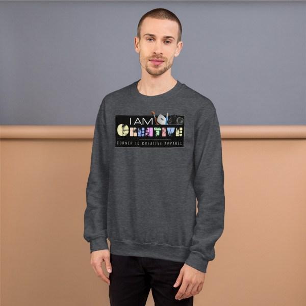 unisex crew neck sweatshirt dark heather 5fe9a93ec52b4