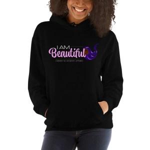 'IAm:Beautiful' Corner 10 Creative Unisex Hoodie