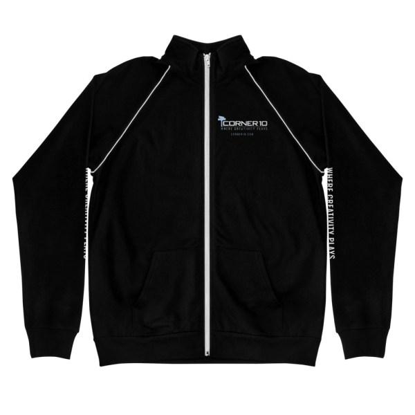 mens piped jacket black white 5ff51998efedb