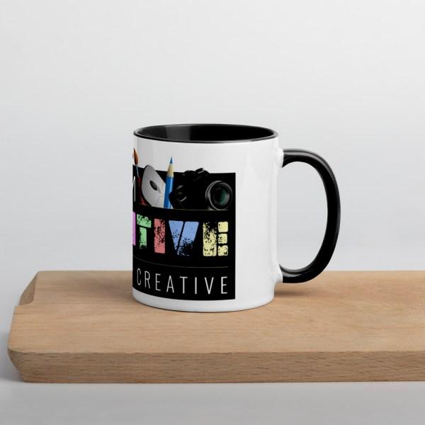 white ceramic mug with color inside black 11oz 60010af231a77