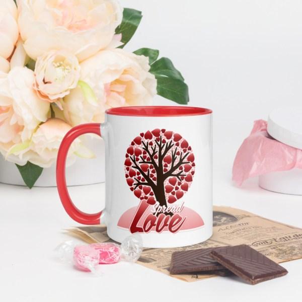 white ceramic mug with color inside red 11oz 600a44442f28d