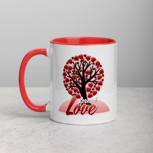 white ceramic mug with color inside red 11oz 600a5090465dc