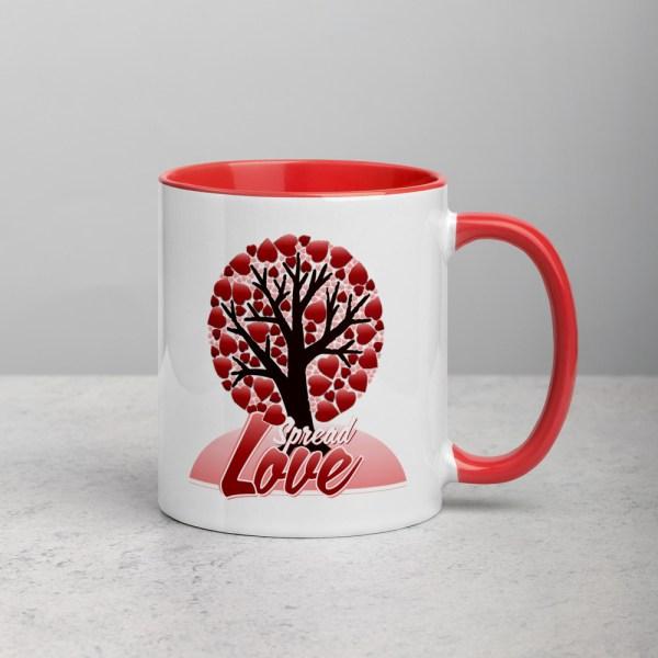 white ceramic mug with color inside red 11oz 600a50904663c