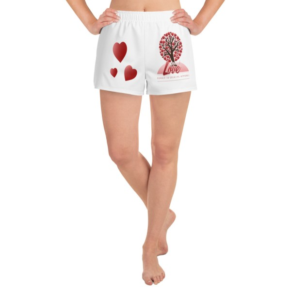 all over print womens athletic short shorts white front 604942d6d40f7