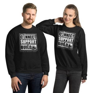 Connect | Support | Build Sweatshirt (Dark Color)