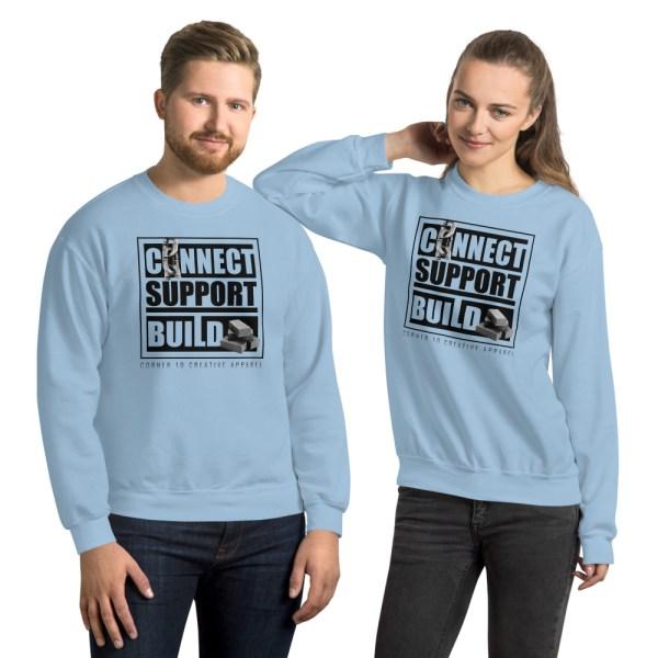 unisex crew neck sweatshirt light blue front 612ecdc5e2d7a