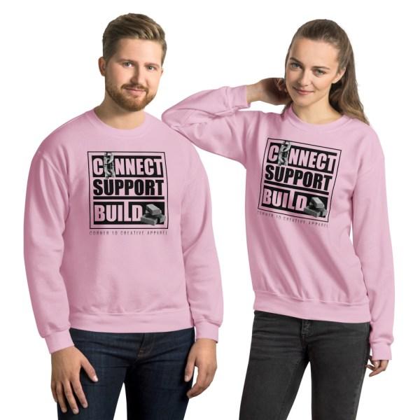 unisex crew neck sweatshirt light pink front 612ecdc5e36eb