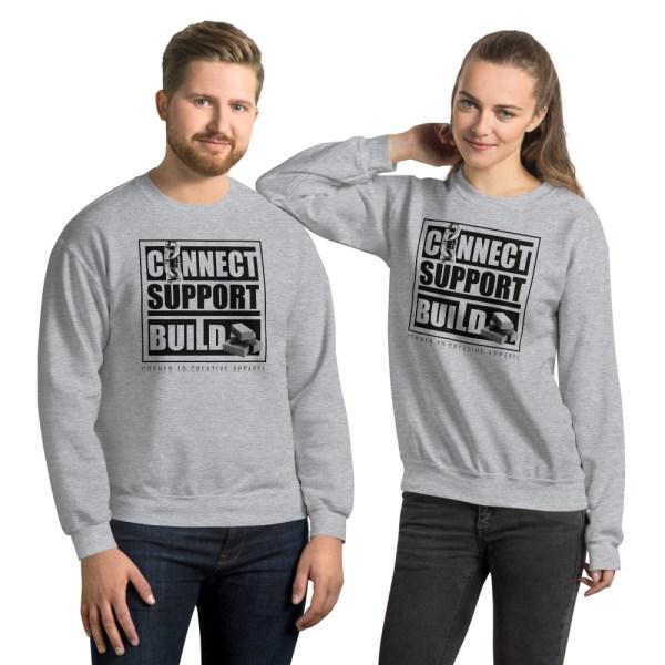 unisex crew neck sweatshirt sport grey front 612ecdc5e30e7