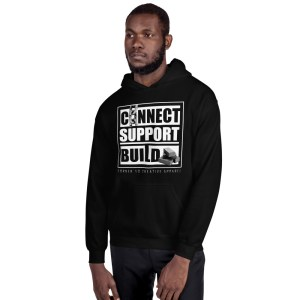 Connect | Support | Build Hoodie (Dark Color)