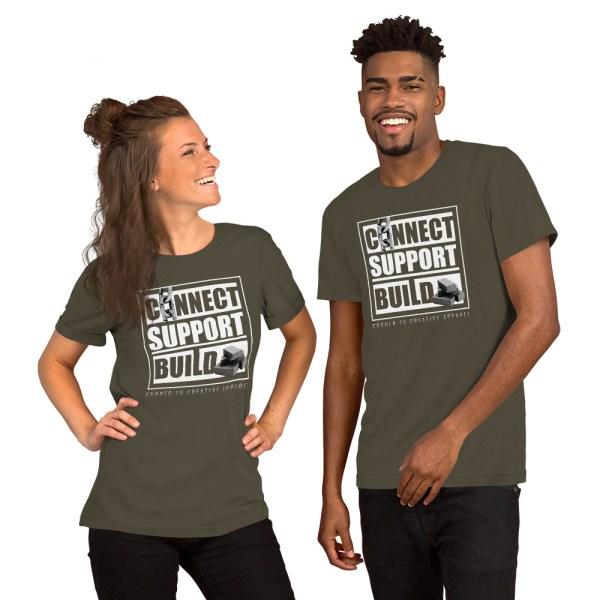 unisex staple t shirt army front 612ebb0de5a06