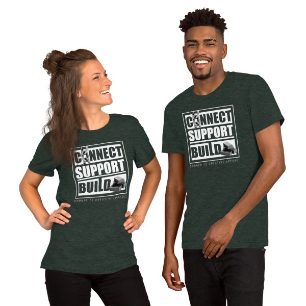 unisex staple t shirt heather forest front 612ebb0ddf995