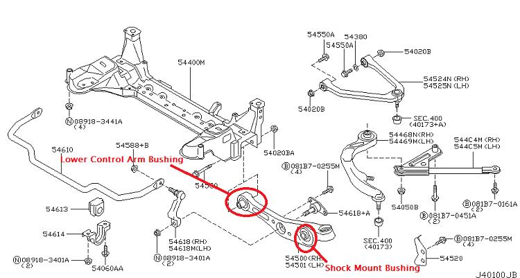 2006 Nissan Armada Rear Suspension Parts Diagram. Nissan