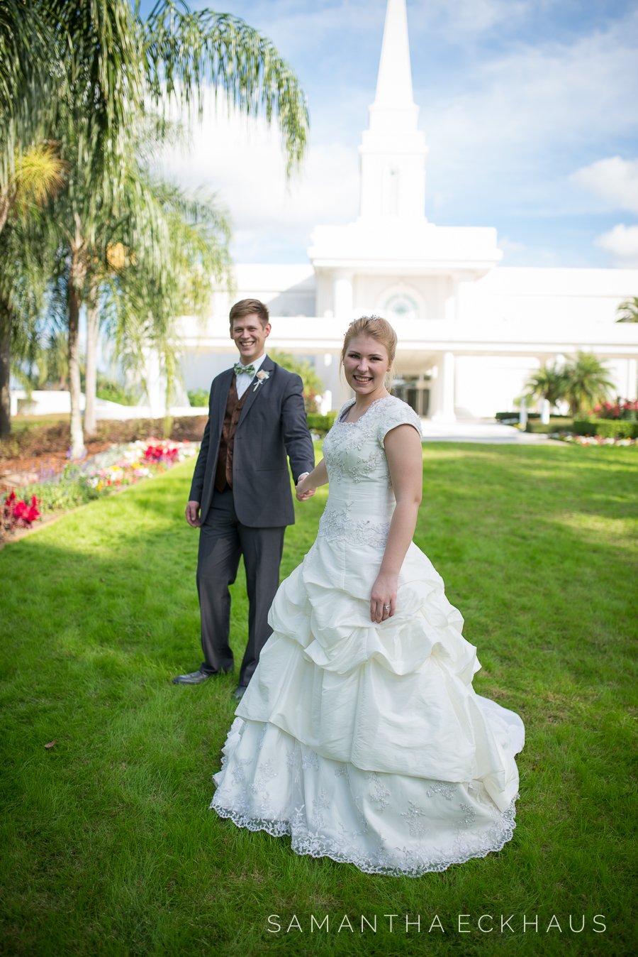 LDS Orlando Florida Temple Wedding