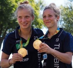 Potsdams Olympiasiegerinnen Tabea Kemme und Svenja Huth - Foto: Uta Zorn