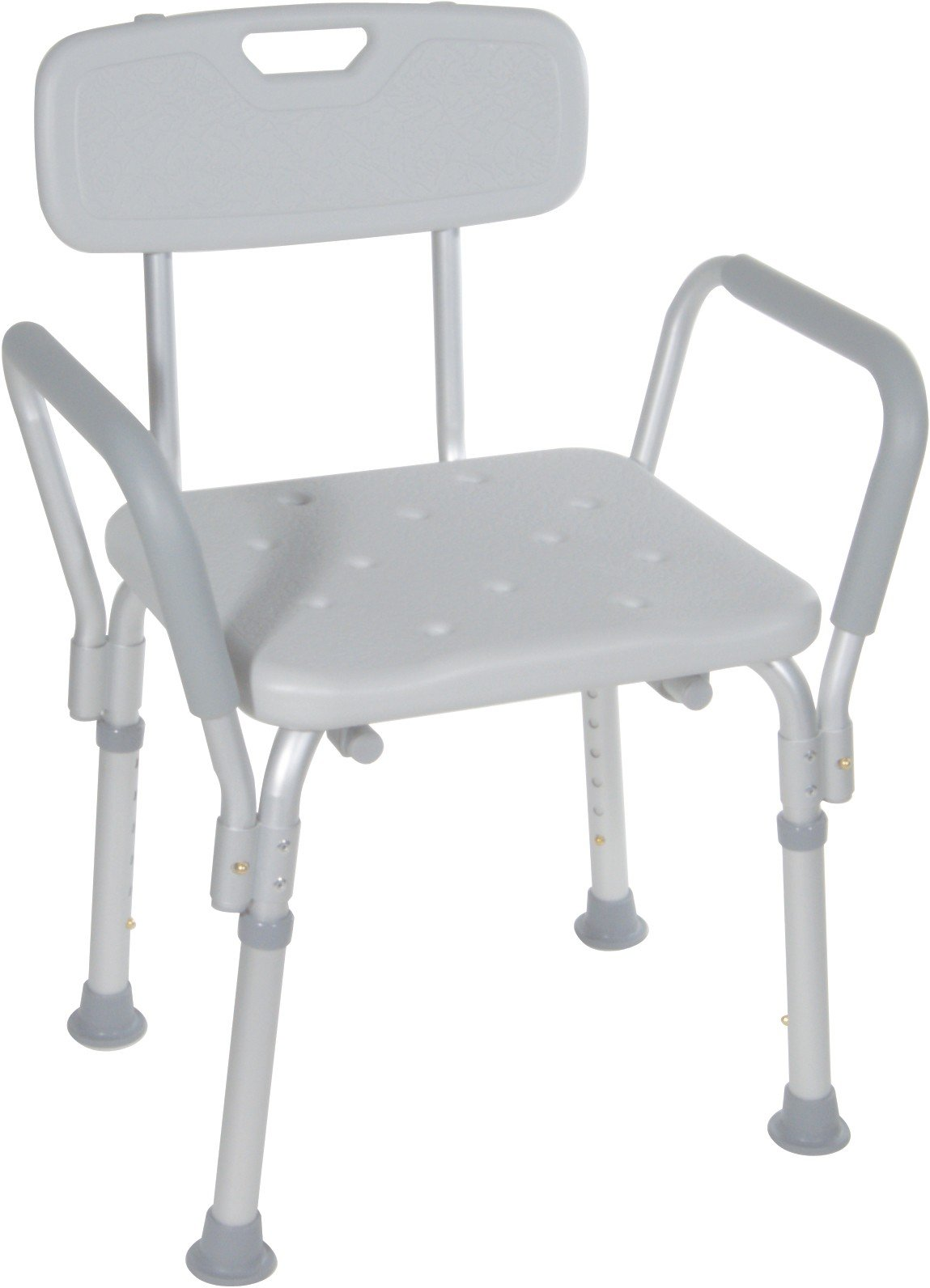 shower chair with back and arms silver office bath bench removable corner home medical