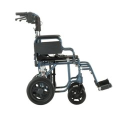 Transport Wheelchair Nova 4 Seater Outdoor Table And Chairs 19 Chair W 12 Rear Wheels Corner Home Medical