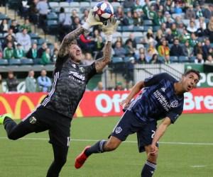 LA Galaxy midfielder Servando Carrasco in the US Open Cup vs Portland Timbers