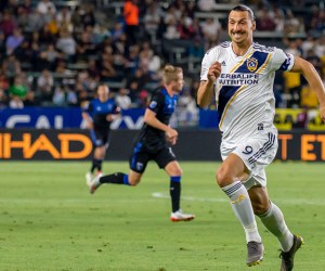 Zlatan Ibrahimovic plays for the LA Galaxy in a 3-1 loss to the San Jose Earthquakes on July 12, 2019 - Photo by Steve Carrillo