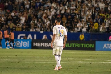 Uriel Antuna plays for the LA Galaxy - Photo by Brittany Campbell