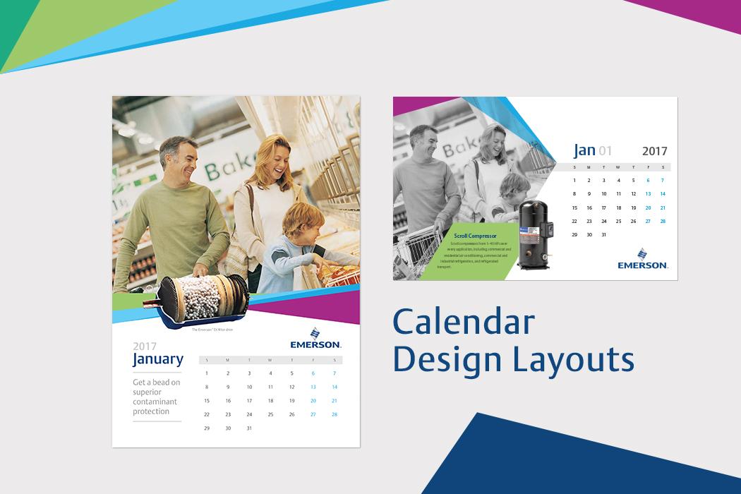 Emerson Calendar Design Layout by Cornerstone
