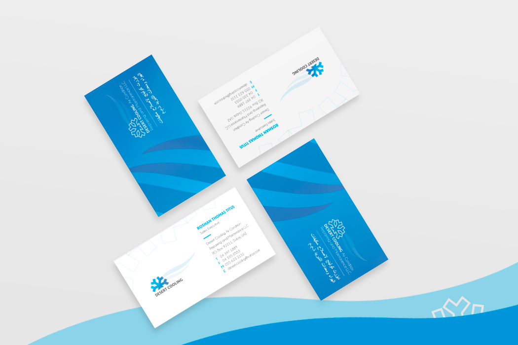 Desert Cooling Business Card Design Dubai